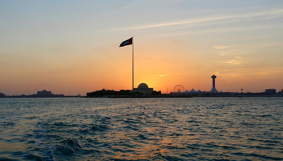 Abu Dhabi, Water, Sea, Landscape, Nature, Sunset, Sky