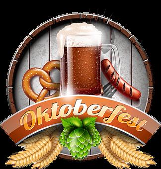 Oktoberfest, Beer, Sausage, Pretzel