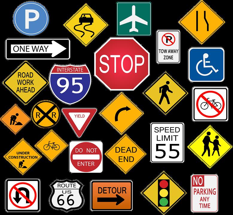 Señales De Transito, Detener, Señal De Carretera