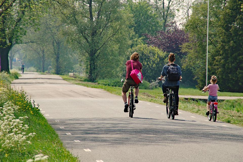 Radfahren, Road, Berm, Frühling, Im Freien, Lebensstil