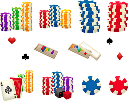 Poker Chips, Gambling, Card Game, Casino
