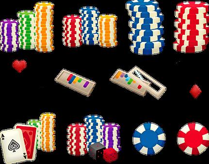 Poker Chips, Gambling, Card Game, Casino