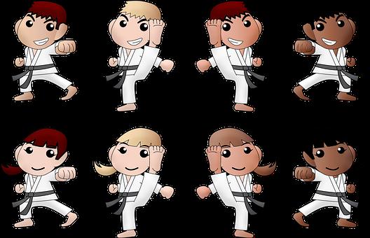 Karate, Chłopiec, Dziewczyna