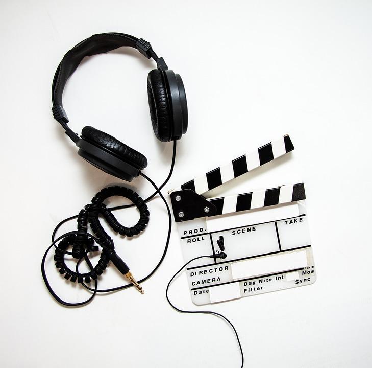 헤드폰, 했, Clapperboard, 영화, 동영상, 장비, 생산, 영화 제작, 스튜디오, 미디어