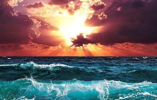 Horizon, L'Eau, Mer, Ciel, Sunset