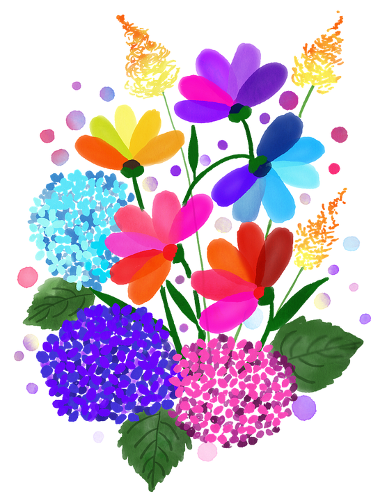 Spring, Watercolour Flowers, Floral, Nature, Watercolor