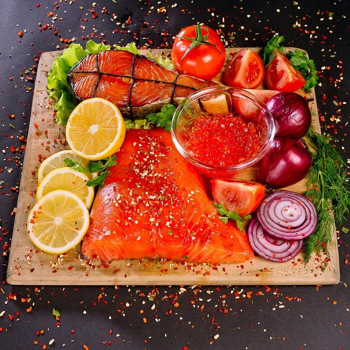 Alimentos, Peces, Salmón, Cocina, Pescados Y Mariscos
