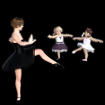 バレエ, 教える, レッスン, 学習, 子供, ダンス, グレース, 知識