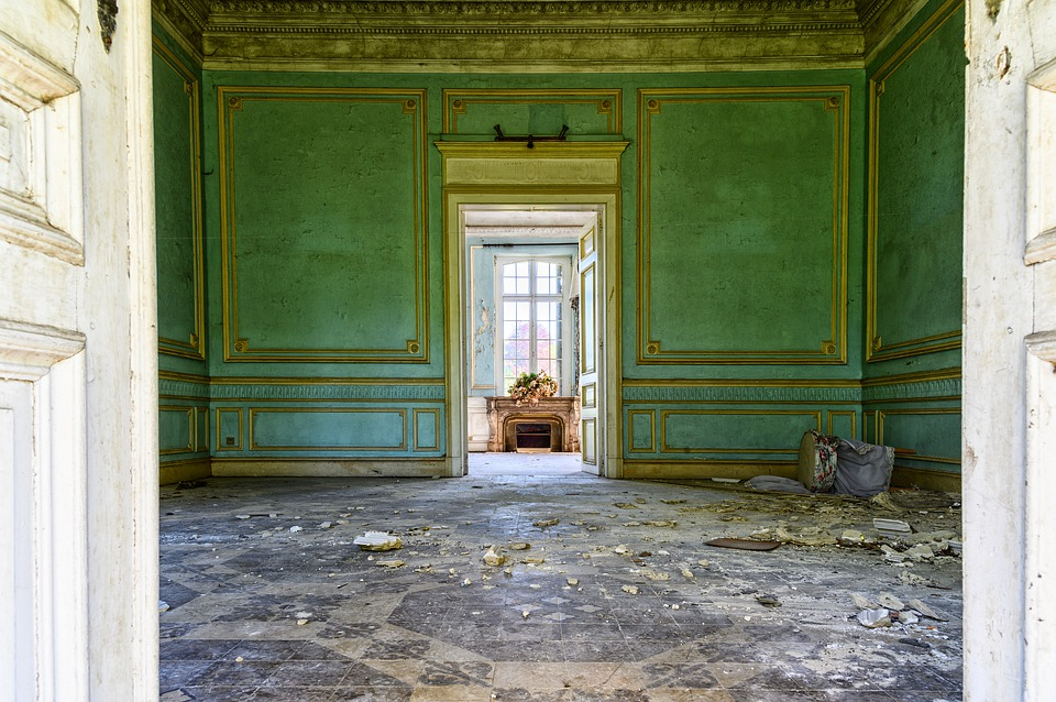 Lost Places, Villa, Space, Room, Old, Stucco, House