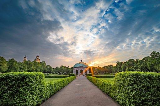 Park, Hofgarten, München, Garten, Stadt