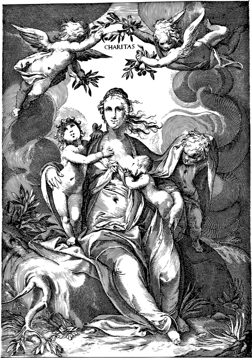 Charytatywna, Kobieta, Karmienie Piersią, Ssania, Anioł