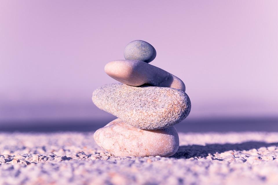 石, バランス, スパ, 禅, 瞑想, 自然, 療法, リラックス, ヨガ, 緩和, ハーモニー, 岩, 平和