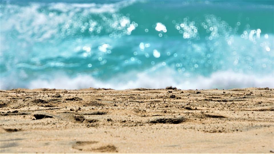 Playa, Mar, Océano, Arena, Huellas, Isla, Fuerteventura