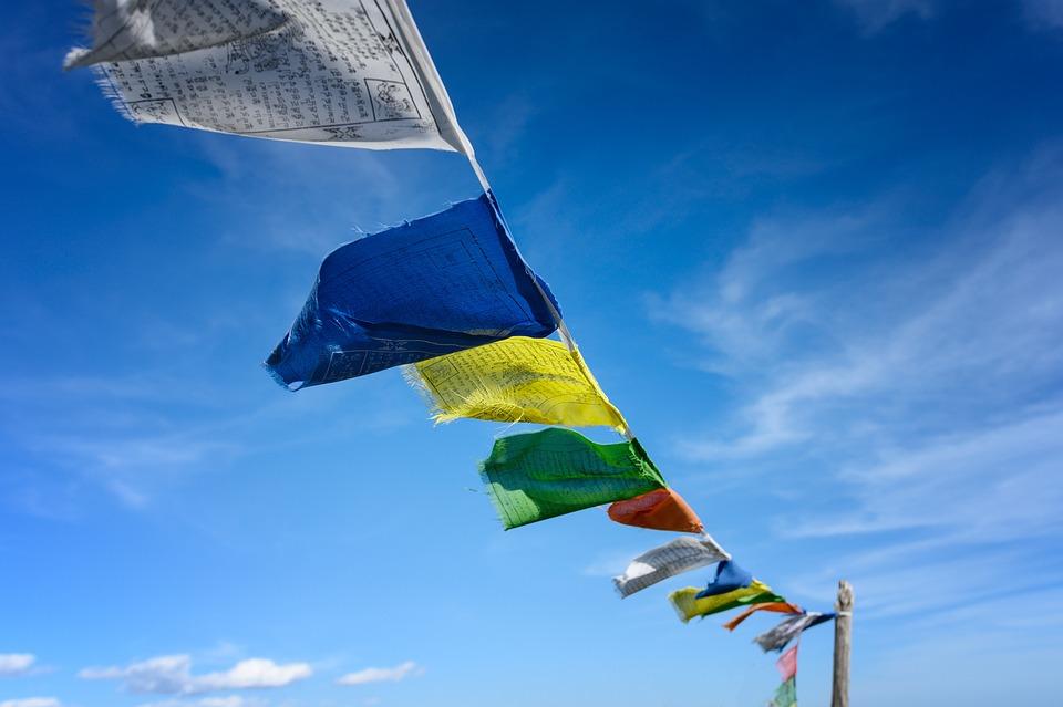 Boeddhisme, Vlaggen, Gebedsvlaggen, Cultuur, Gebed