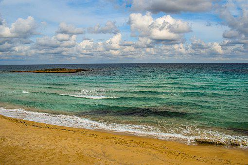 Cyprus, Protaras, Beach, Sea, Horizon