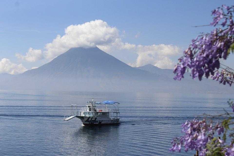 Atitlan, Lake, Gwatemala, Solola, Wulkan