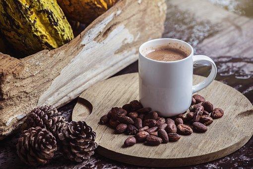 Kawa, Kakao, Pić, Śniadanie, Kubek