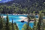 alpejskie jezioro, niebieski, wody