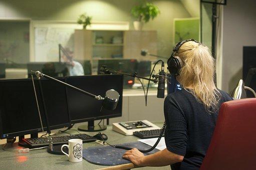 Rádio, Estúdio, Áudio, Som, Registo, Voz