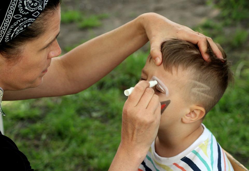 Face Painting, Divertimento, Viso, Bambino, Trucco