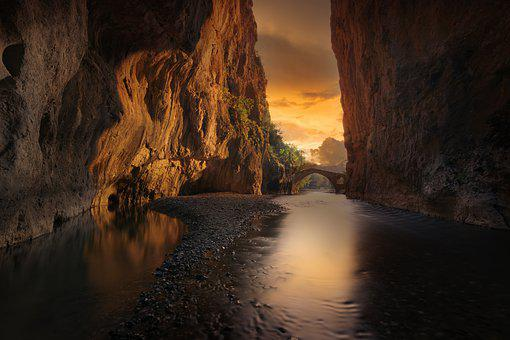 Canyon, River, Landscape, Nature, Water
