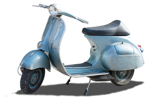 Isolated, Vintage, Vespa, Motor Scooter