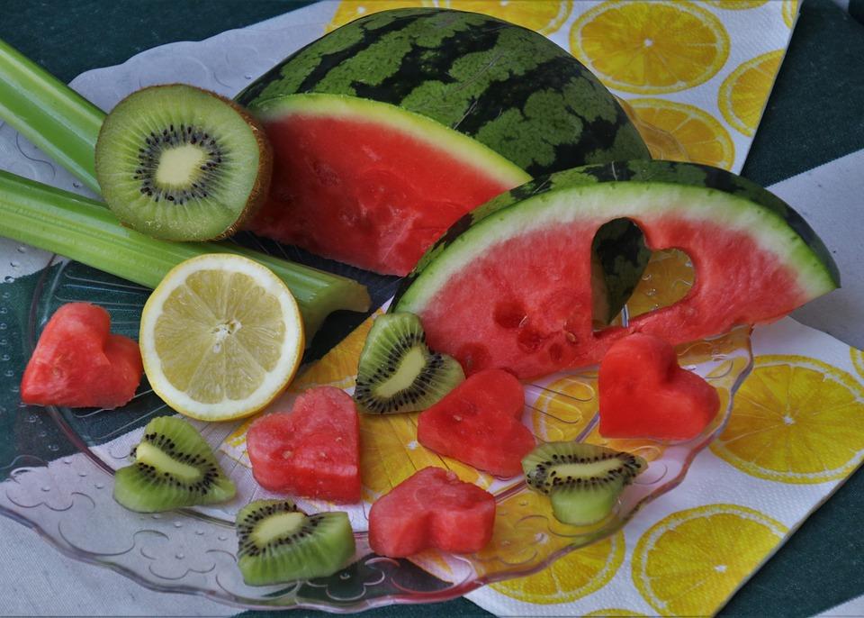 Semangka, Piring, Melon, Jantung, Hidangan Pembuka