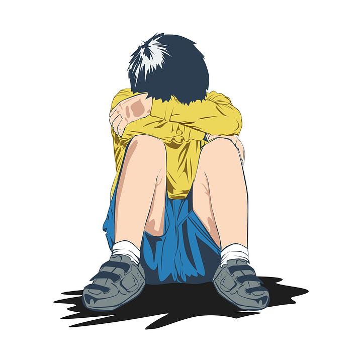 Huilen, Droefheid, Kind, Alleen, Emoties, Eenzaam