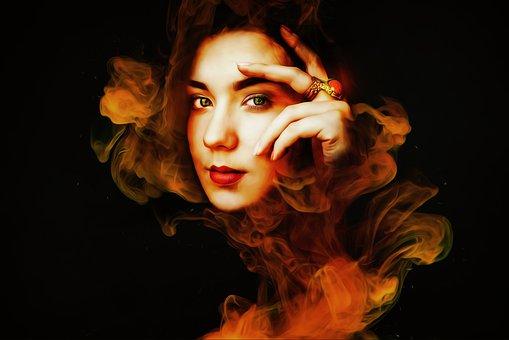 Fantasy, Dark, Gothic, Dream, Smoke