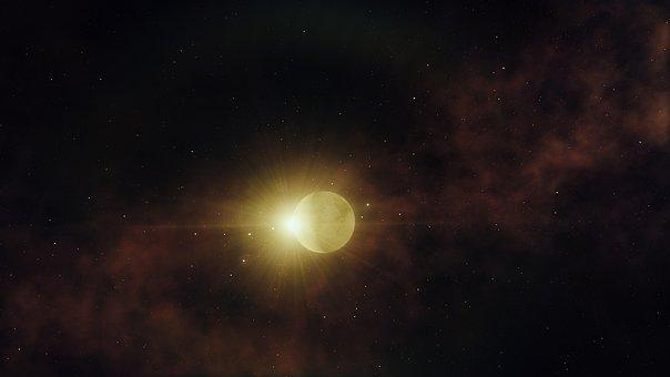 별, 하, 공간, 우주, 천문학, 갤럭시, 코스모스, 밤, 어두운, 스타