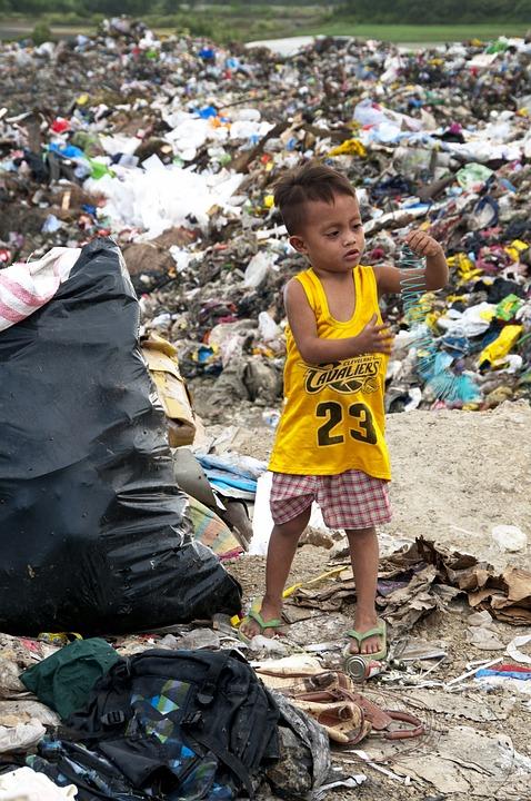 Immondizia, Di Plastica, Filippine, Cebu, Povertà