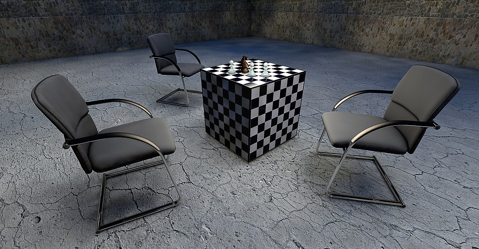 Chess, Cube, Space, Chair, Horse, Springer, Bauer