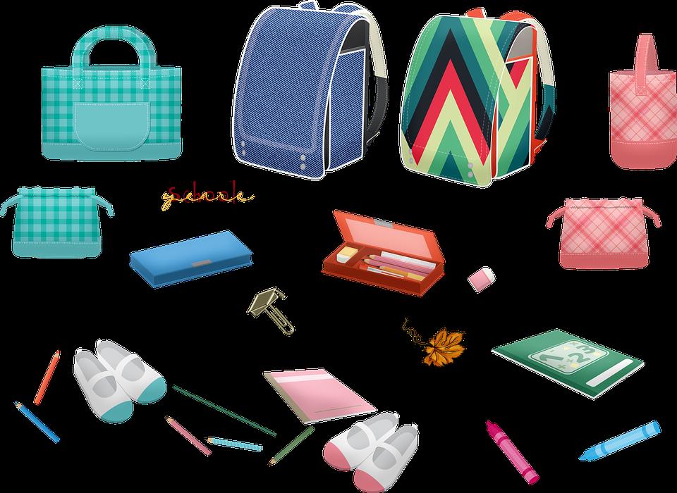 学校用品, バックパック, 鉛筆, 靴, 書籍, 電源, 教育, アップル, 数学, 研究, 学ぶ