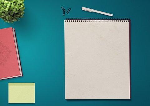 表, 记事本, 苦力, 本书, 厂, 纸夹, 博客, 邮寄, 消息, 注意, 写