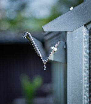 Drop Of Water, Rain Gutter, Greenhouse