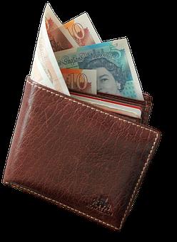 Wallet, Money, Pound, Wager, Cash