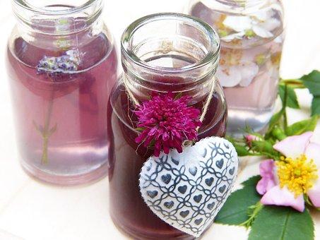 Water, Flowers, Glass, Glasses, Bottles