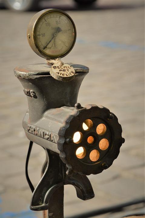 Ornament, Decoration, Vintage, Retro, Light, Exhibit, upcycling, upcycle, upcycling ideas, upcycled lamp, light