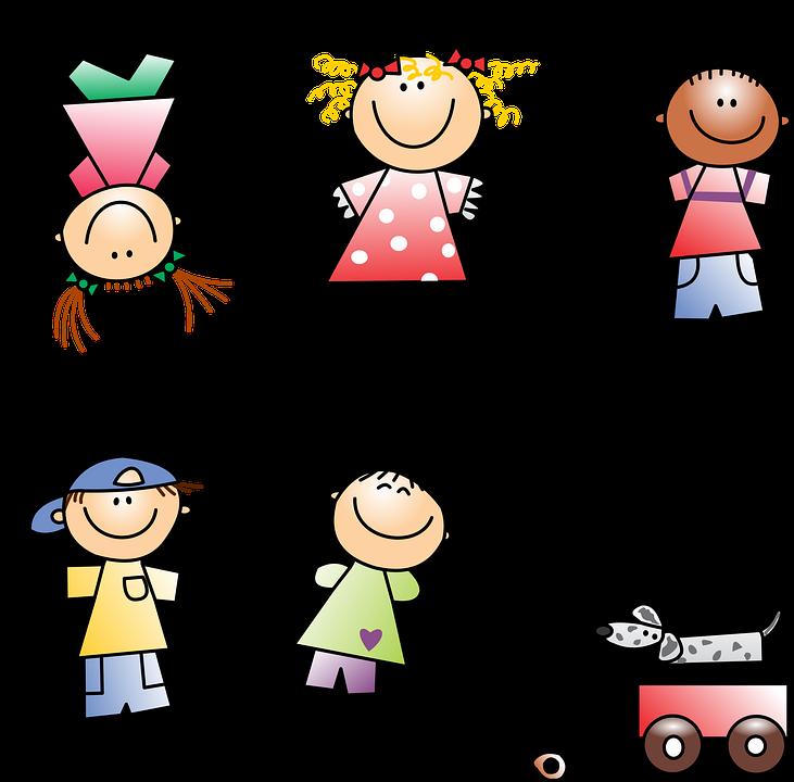 Gyerekek, Rajz, Lány, Fiú, Gyermek, Gyermekek