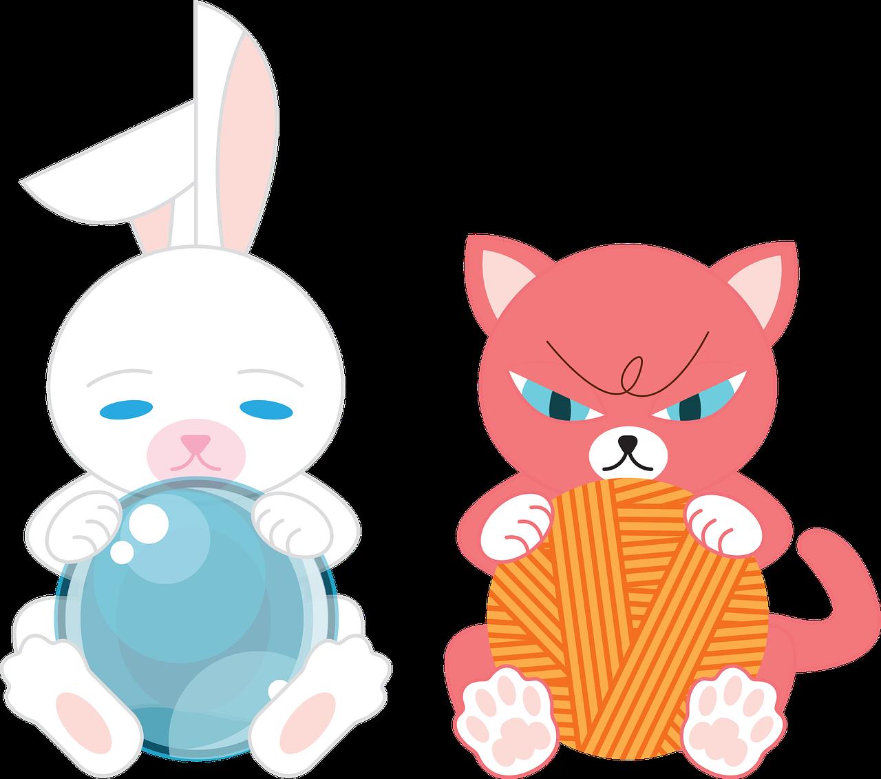 Rabbit Cat Animal Free Vector Graphic On Pixabay