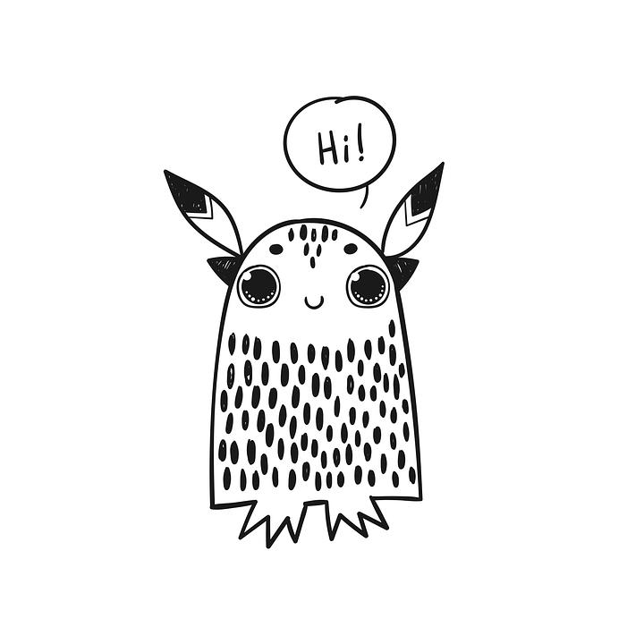 Monster, Cute, Beast, Animal, Funny, Art, Doodle