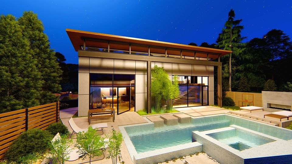 Pool House Modern Water - Free photo on Pixabay