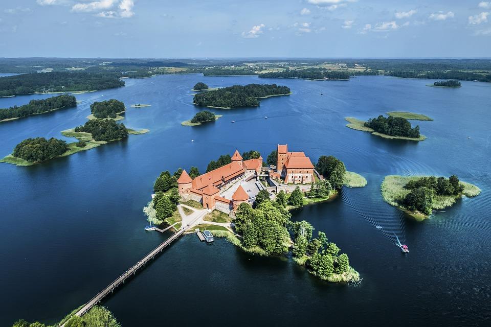Kasteel, Natuur, Litouwen, Landschap, Fantasie, Hemel