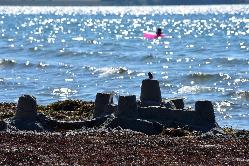 Beach, Sea, Sandcastle, Vacation, Sunny, Tourism