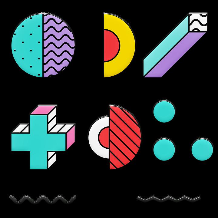 Memphis Shapes 80'S Design - Free image on Pixabay