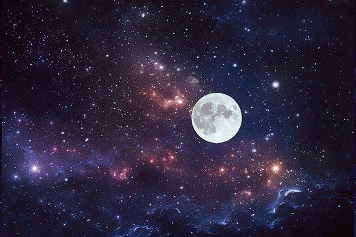 Moon, Stars, Universe, Solar System