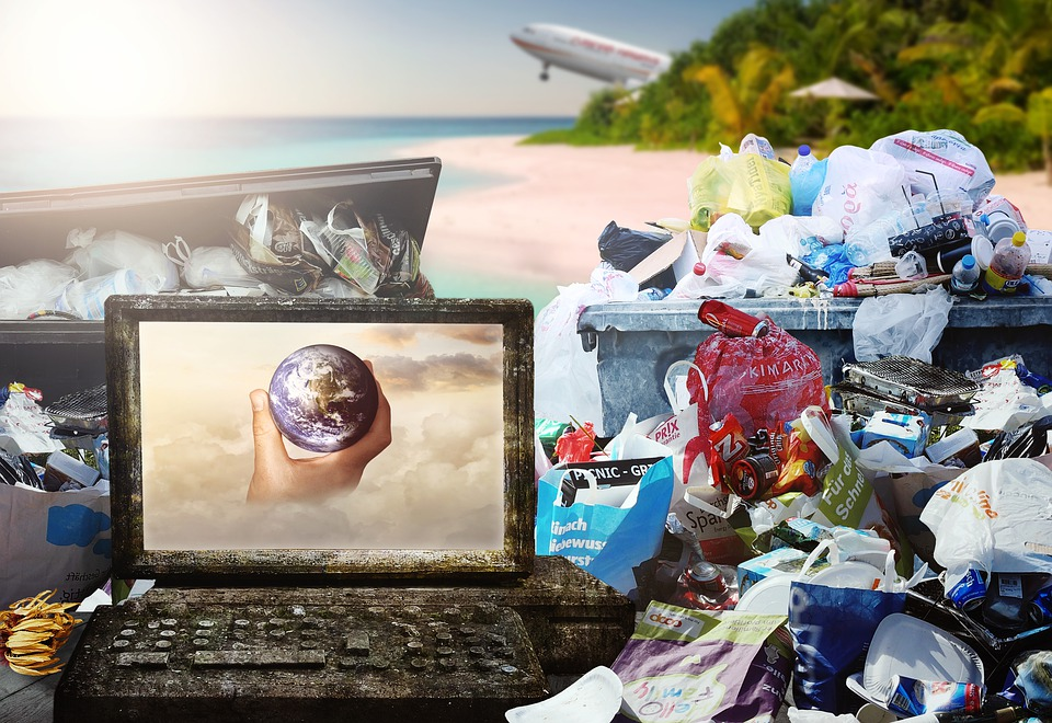 Garbage, Paradise, Sun, Aircraft, Trash Mountain