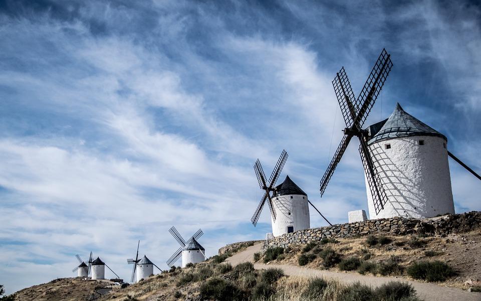 Windmills, Consuegra, Toledo, Spain, Landscapes