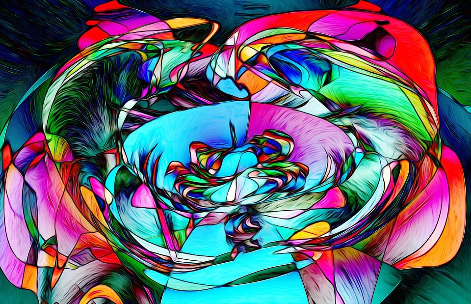 Soyut Cicek Boyama Pixabay De Ucretsiz Resim