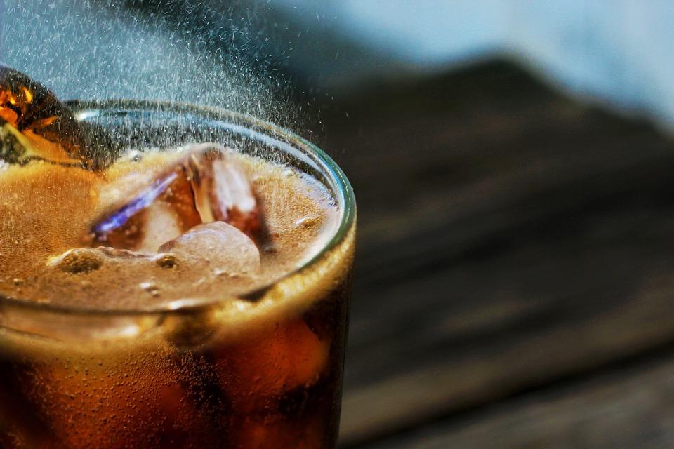 Napój Bezalkoholowy, Soda, Lód, Szkła, Zimnej, Świeży